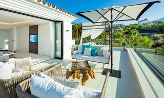 Spacious, nicely renovated luxury villa for sale with sea and golf views, Nueva Andalucía, Marbella 8569