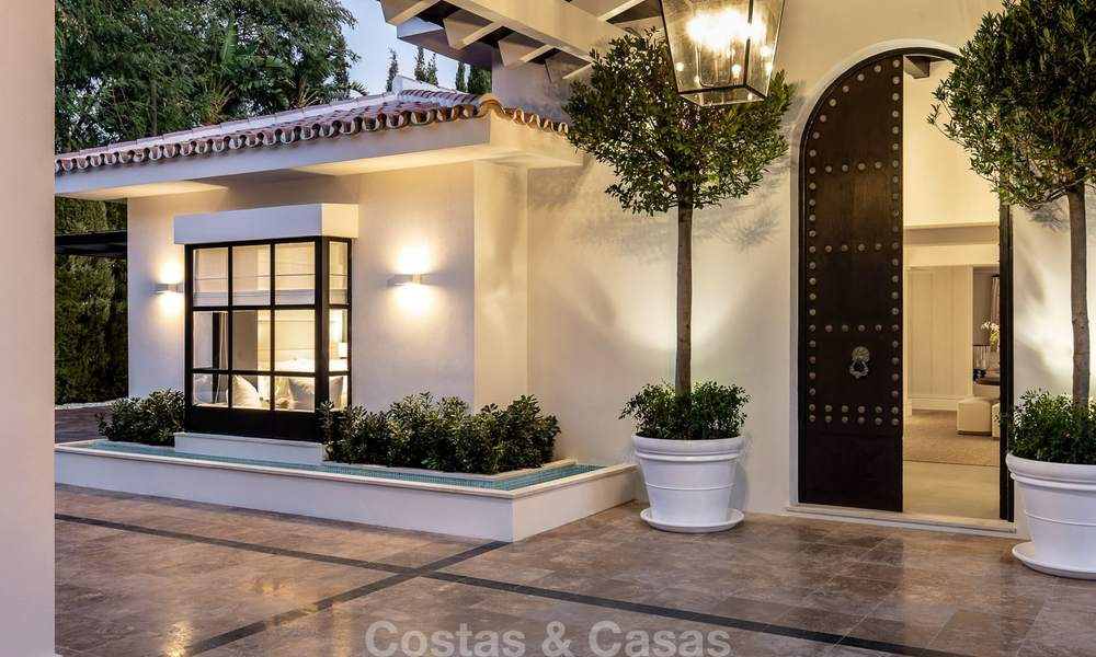 Spectacular, fully refurbished luxury villa with sea views for sale, front line golf, Nueva Andalucía, Marbella 8669