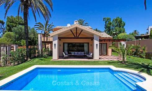 Beachside classical-style villa in a popular residential area for sale, East Marbella 8748