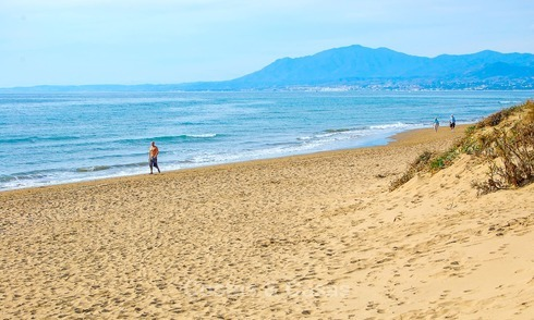 Front line beach plot for sale, in Elviria, Marbella 8671