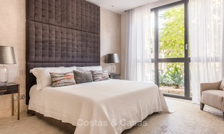 Posh modern luxury apartment for sale in a prestigious residential complex in Sierra Blanca, Golden Mile, Marbella 8768