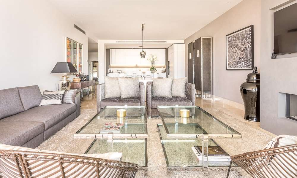 Posh modern luxury apartment for sale in a prestigious residential complex in Sierra Blanca, Golden Mile, Marbella 8780