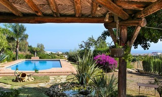 Well located and attractively priced villa - finca with sea and mountain views for sale, Estepona, Costa del Sol 8681