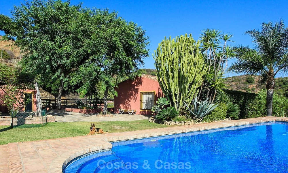 Well located and attractively priced villa - finca with sea and mountain views for sale, Estepona, Costa del Sol 8689