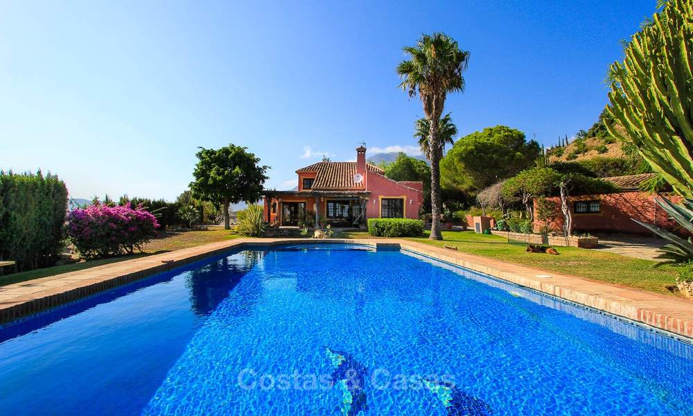 Well located and attractively priced villa - finca with sea and mountain views for sale, Estepona, Costa del Sol 8691