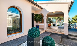 Cosy and luxurious traditional-style villa with sea views for sale, with guest house, ready to move in - Elviria, Marbella 8799