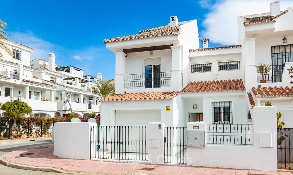 Ideal renovated family semi-detached house for sale, located in Nueva Andalucia, Marbella, at walking distance to Puerto Banus 8706