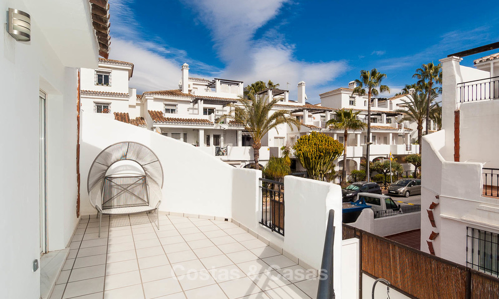 Ideal renovated family semi-detached house for sale, located in Nueva Andalucia, Marbella, at walking distance to Puerto Banus 8714