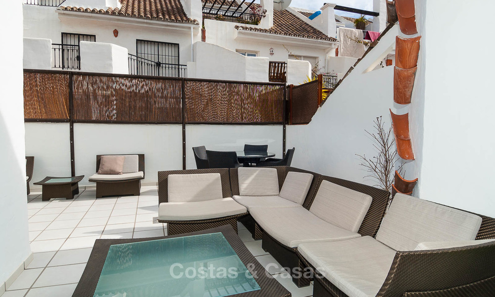 Ideal renovated family semi-detached house for sale, located in Nueva Andalucia, Marbella, at walking distance to Puerto Banus 8716