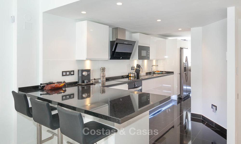 Ideal renovated family semi-detached house for sale, located in Nueva Andalucia, Marbella, at walking distance to Puerto Banus 8723