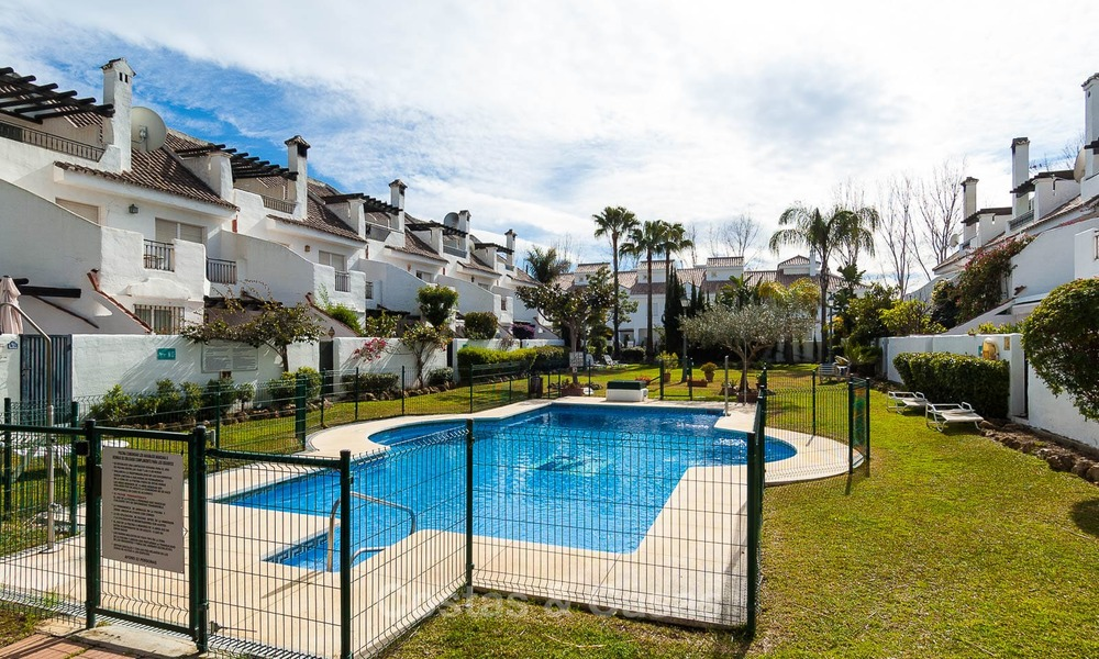 Ideal renovated family semi-detached house for sale, located in Nueva Andalucia, Marbella, at walking distance to Puerto Banus 8728