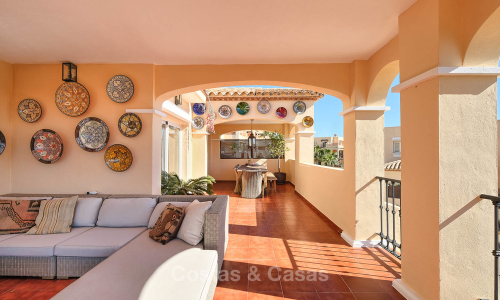 Stunning penthouse apartment for sale in a luxury complex, front line golf with sea views - Marbella - Estepona 8892