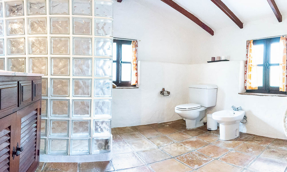 Unique offering! Beautiful countryside estate of 5 villas on a huge plot for sale, with stunning sea views - Mijas, Costa del Sol 9050
