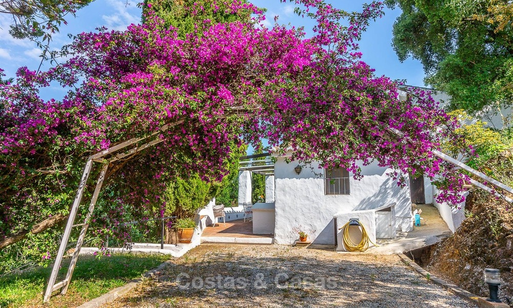 Unique offering! Beautiful countryside estate of 5 villas on a huge plot for sale, with stunning sea views - Mijas, Costa del Sol 9052