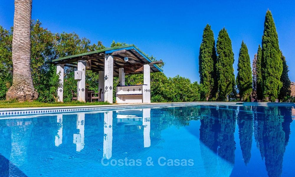 Unique offering! Beautiful countryside estate of 5 villas on a huge plot for sale, with stunning sea views - Mijas, Costa del Sol 9068
