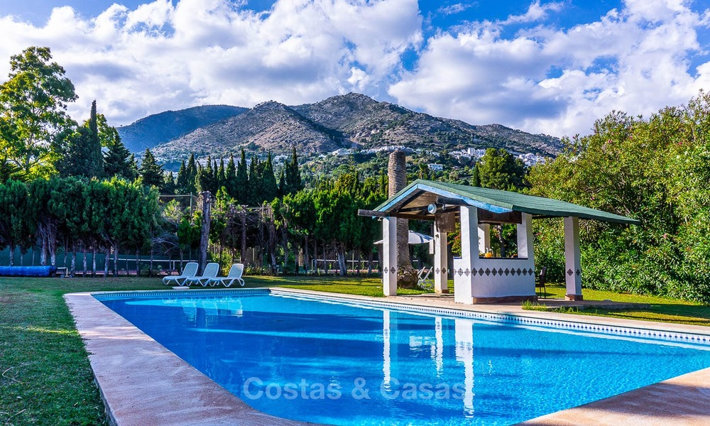 Unique offering! Beautiful countryside estate of 5 villas on a huge plot for sale, with stunning sea views - Mijas, Costa del Sol 9070