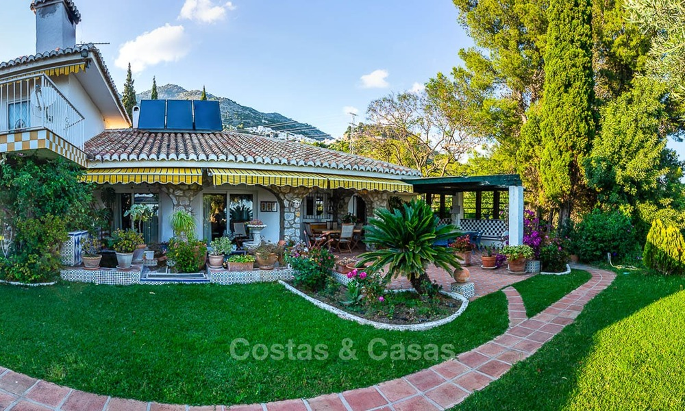 Unique offering! Beautiful countryside estate of 5 villas on a huge plot for sale, with stunning sea views - Mijas, Costa del Sol 8984