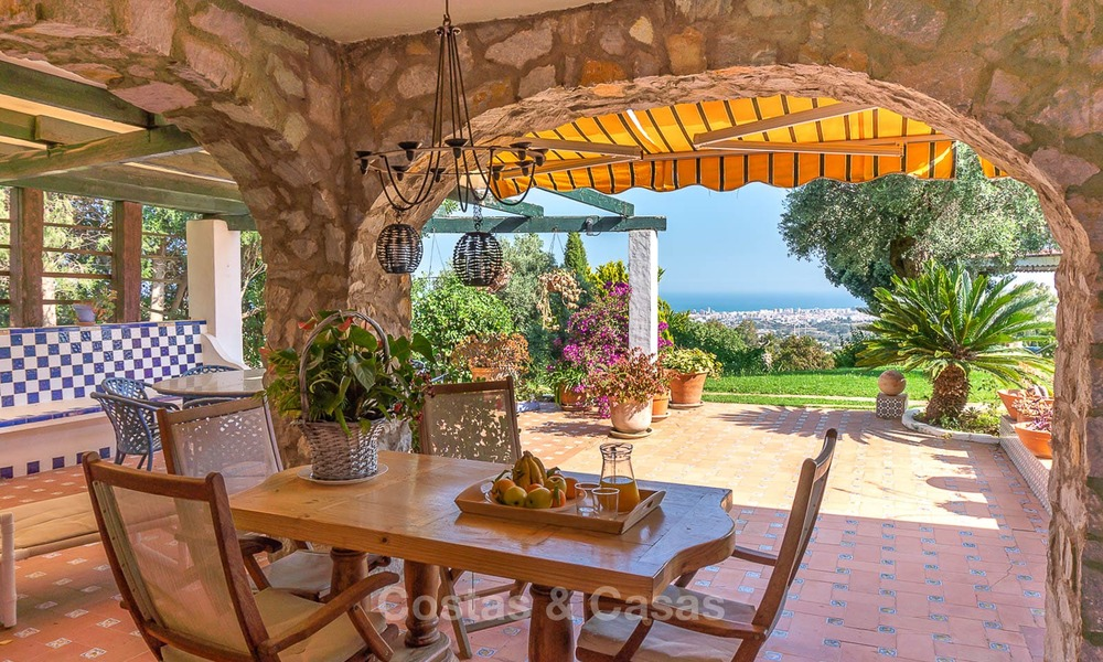 Unique offering! Beautiful countryside estate of 5 villas on a huge plot for sale, with stunning sea views - Mijas, Costa del Sol 8988