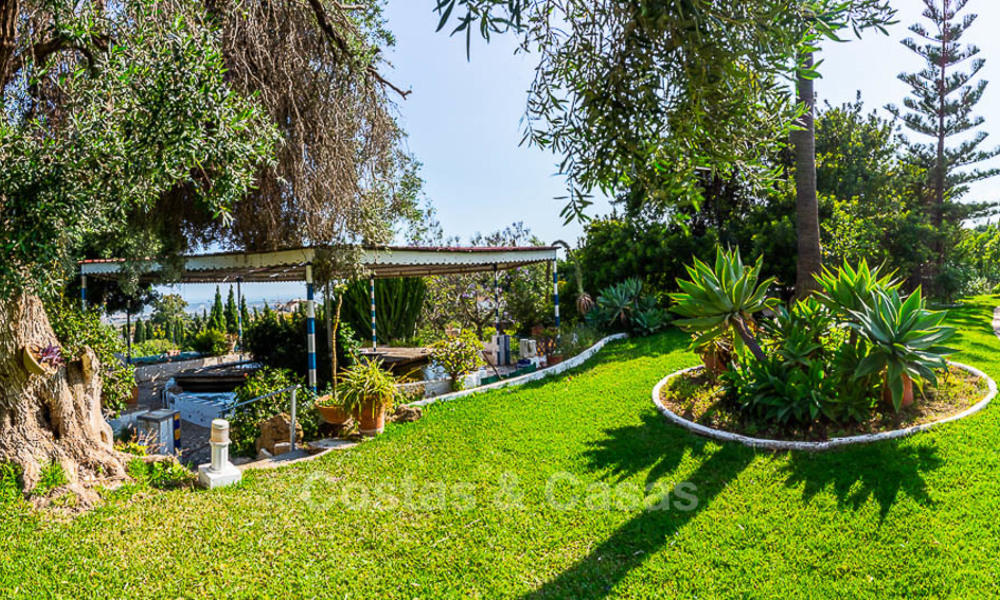 Unique offering! Beautiful countryside estate of 5 villas on a huge plot for sale, with stunning sea views - Mijas, Costa del Sol 8990