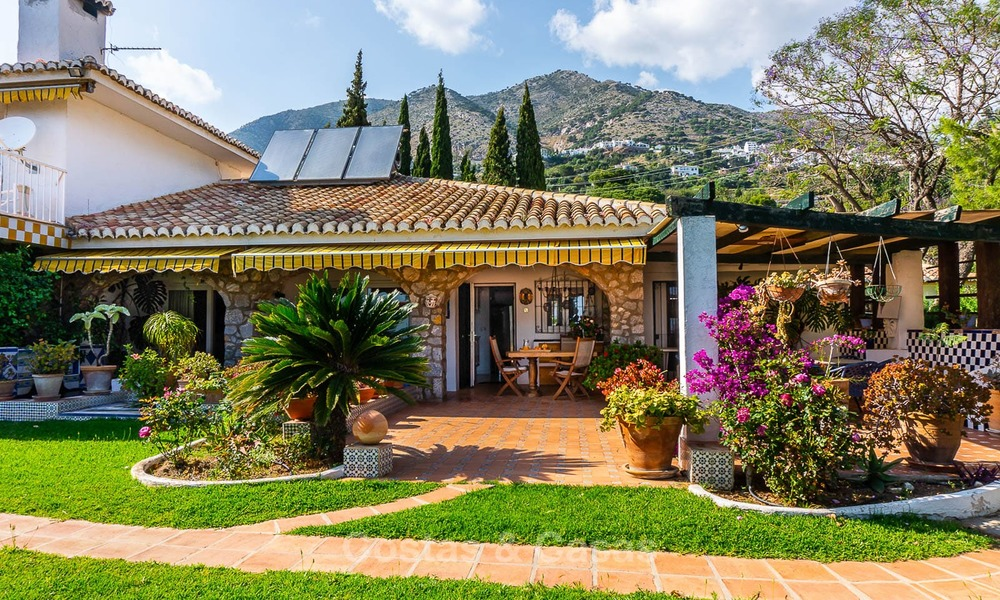 Unique offering! Beautiful countryside estate of 5 villas on a huge plot for sale, with stunning sea views - Mijas, Costa del Sol 8991