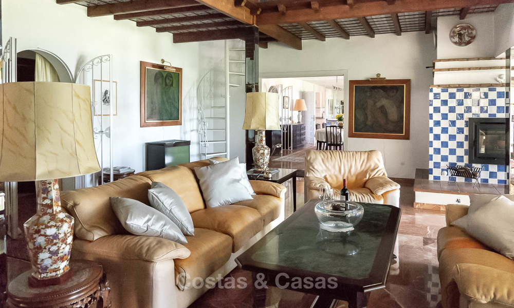 Unique offering! Beautiful countryside estate of 5 villas on a huge plot for sale, with stunning sea views - Mijas, Costa del Sol 8995