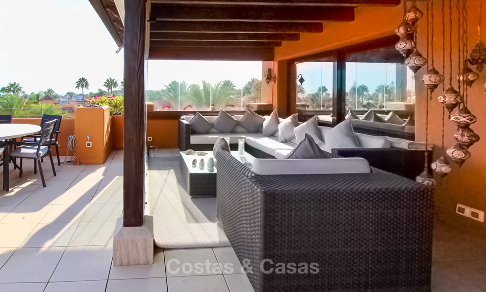 Spectacular penthouse with a private pool in a luxury complex for sale, front line beach – New Golden Mile, Marbella - Estepona 9085