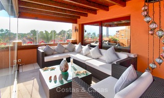 Spectacular penthouse with a private pool in a luxury complex for sale, front line beach – New Golden Mile, Marbella - Estepona 9086