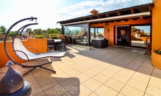 Spectacular penthouse with a private pool in a luxury complex for sale, front line beach – New Golden Mile, Marbella - Estepona 9121