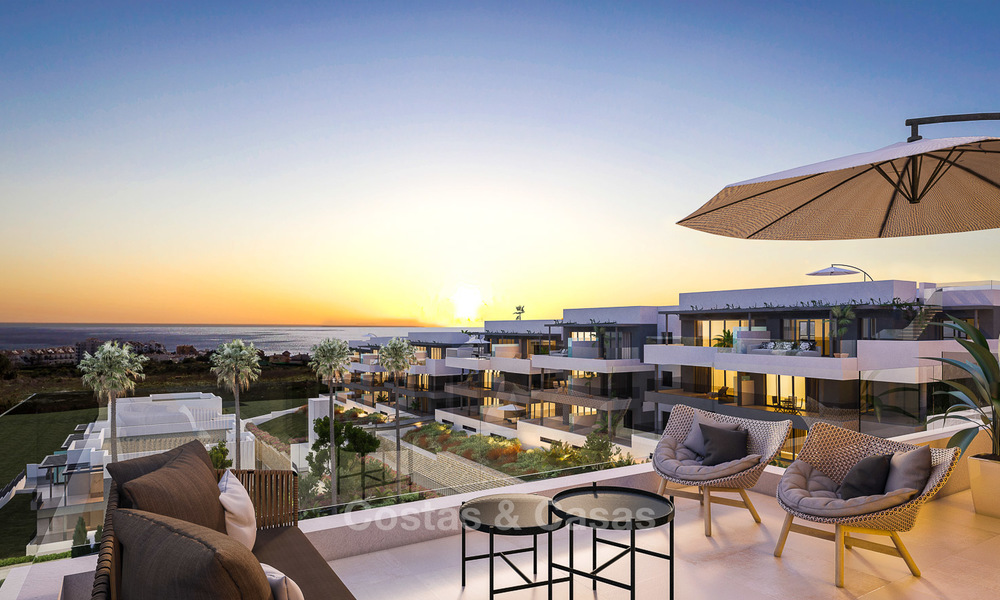 Brand new modern luxury apartments with sea views for sale, Estepona 9188