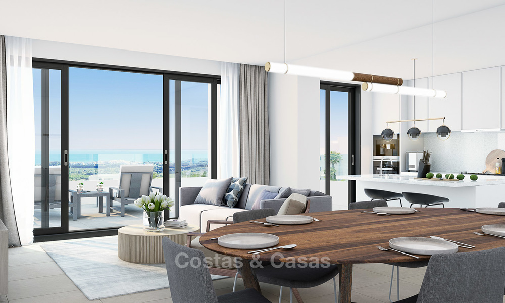 Brand new modern luxury apartments with sea views for sale, Estepona 9195
