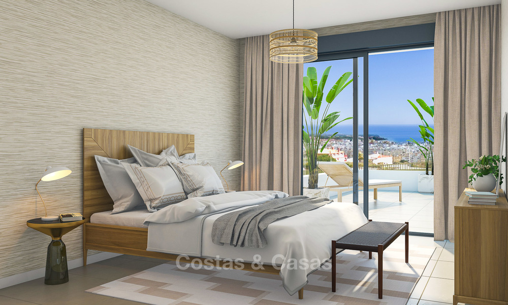 Brand new modern luxury apartments with sea views for sale, Estepona 9198