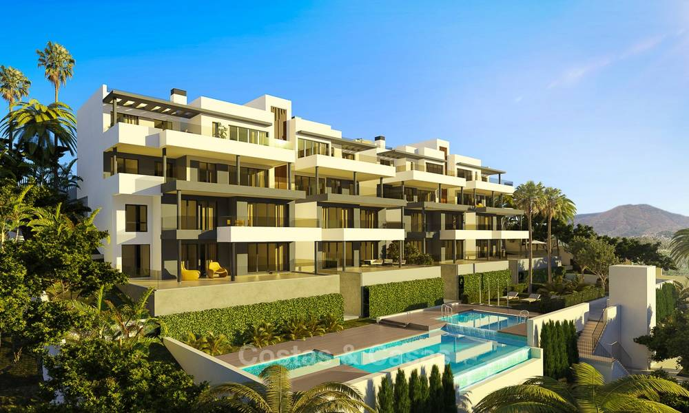 Brand new modern luxury apartments with sea views for sale, Estepona 9199