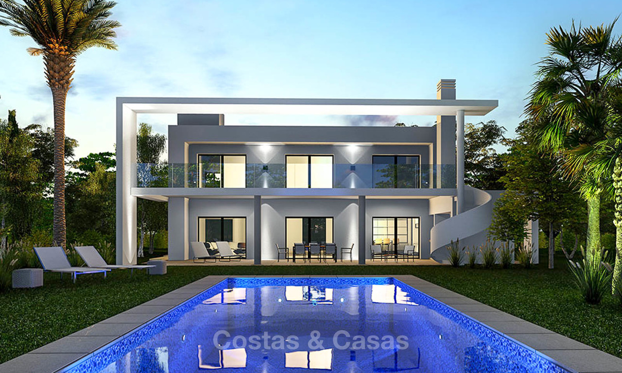 Stylish modern contemporary luxury villa with sea and mountain views for sale - Benalmadena, Costa del Sol 9250