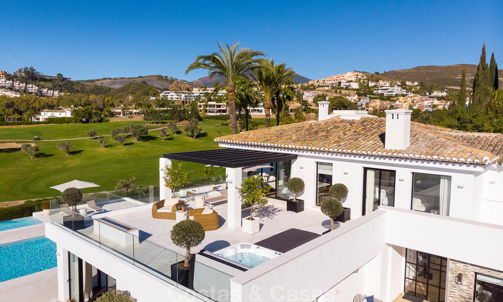 Prestigious renovated luxury villa for sale, front line golf, Nueva Andalucía, Marbella 9423