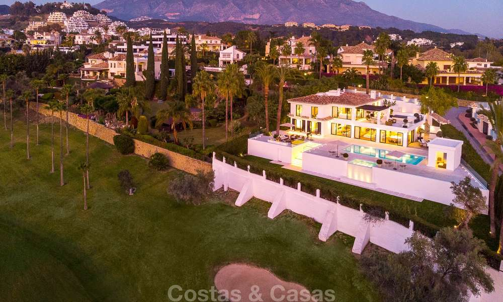 Prestigious renovated luxury villa for sale, front line golf, Nueva Andalucía, Marbella 9447