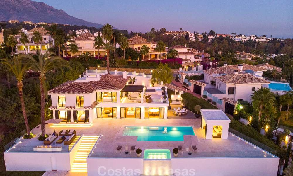 Prestigious renovated luxury villa for sale, front line golf, Nueva Andalucía, Marbella 9448