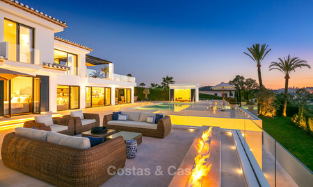 Prestigious renovated luxury villa for sale, front line golf, Nueva Andalucía, Marbella 9452