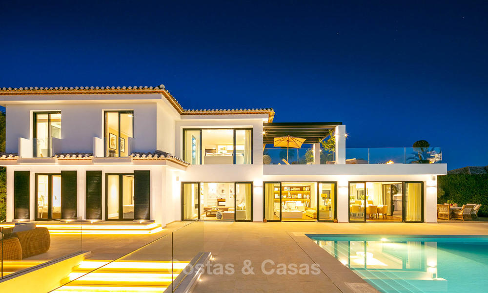 Prestigious renovated luxury villa for sale, front line golf, Nueva Andalucía, Marbella 9454