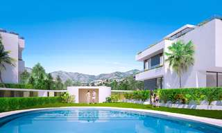 Gorgeous new modern townhouses for sale, within walking distance of the beach and amenities in Fuengirola, Costa del Sol. Last units! 9495