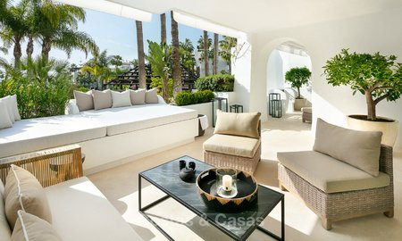 Sneak preview! Sumptuous ground floor luxury apartment for sale, Puente Romano with sea view - Golden Mile, Marbella 9584