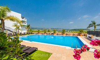 Guaranteed return on investment! Frontline golf apartments for sale in 4-star gated holiday resort with golf-, mountain- and or sea views in Estepona, Costa del Sol 9902