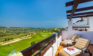 Guaranteed return on investment! Frontline golf apartments for sale in 4-star gated holiday resort with golf-, mountain- and or sea views in Estepona, Costa del Sol 9903