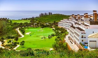 Guaranteed return on investment! Frontline golf apartments for sale in 4-star gated holiday resort with golf-, mountain- and or sea views in Estepona, Costa del Sol 9913