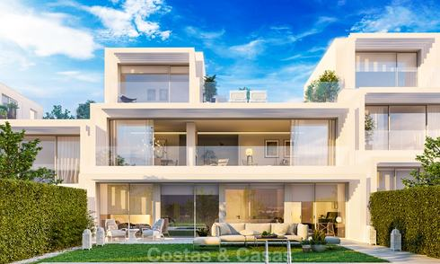 New contemporary semi-detached villas with stunning sea views for sale, front line golf, Sotogrande, Costa del Sol 9942