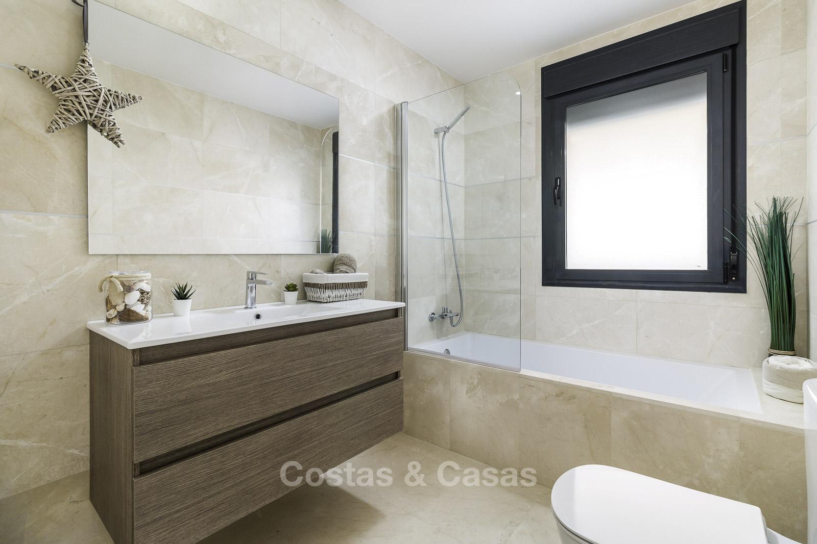 new frontline golf apartments for sale sea views Casares Costa del Sol