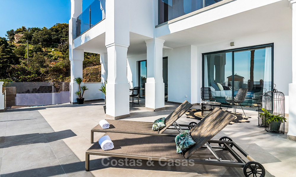 Spacious, modern luxury apartments in a new wellness resort for sale, with unobstructed sea views, Manilva, Costa del Sol 10110