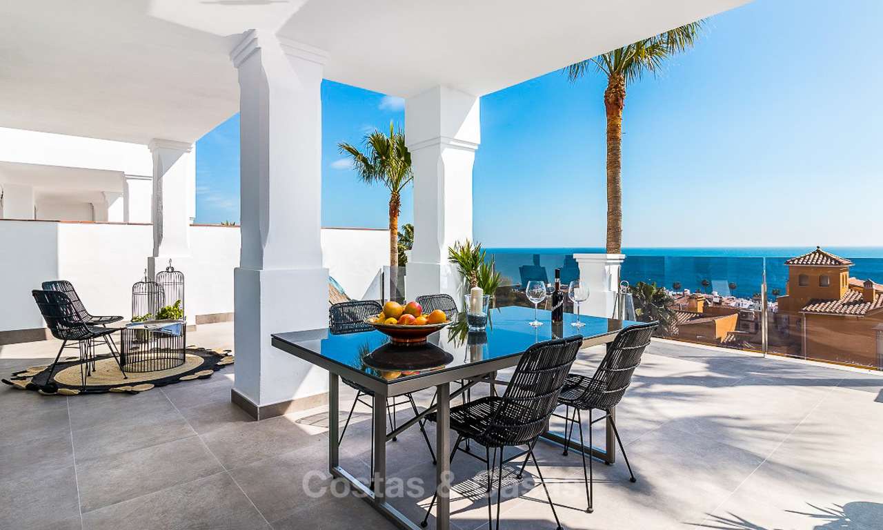 Spacious, modern luxury apartments in a new wellness resort for sale, with unobstructed sea views, Manilva, Costa del Sol 10118