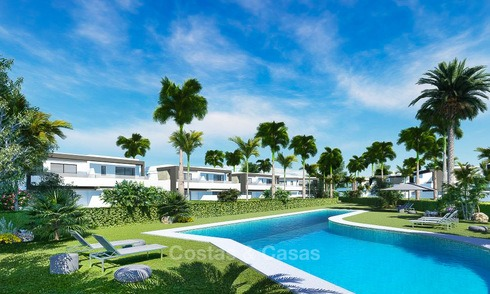 Stylish new semi-detached luxury villas for sale, New Golden Mile, Marbella - Estepona 10012