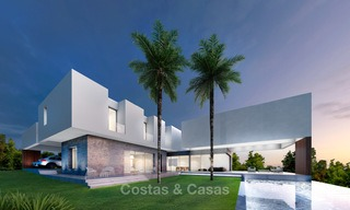 Brand new contemporary luxury villa with panoramic sea views for sale, in an exclusive golf resort, Benahavis - Marbella 10096