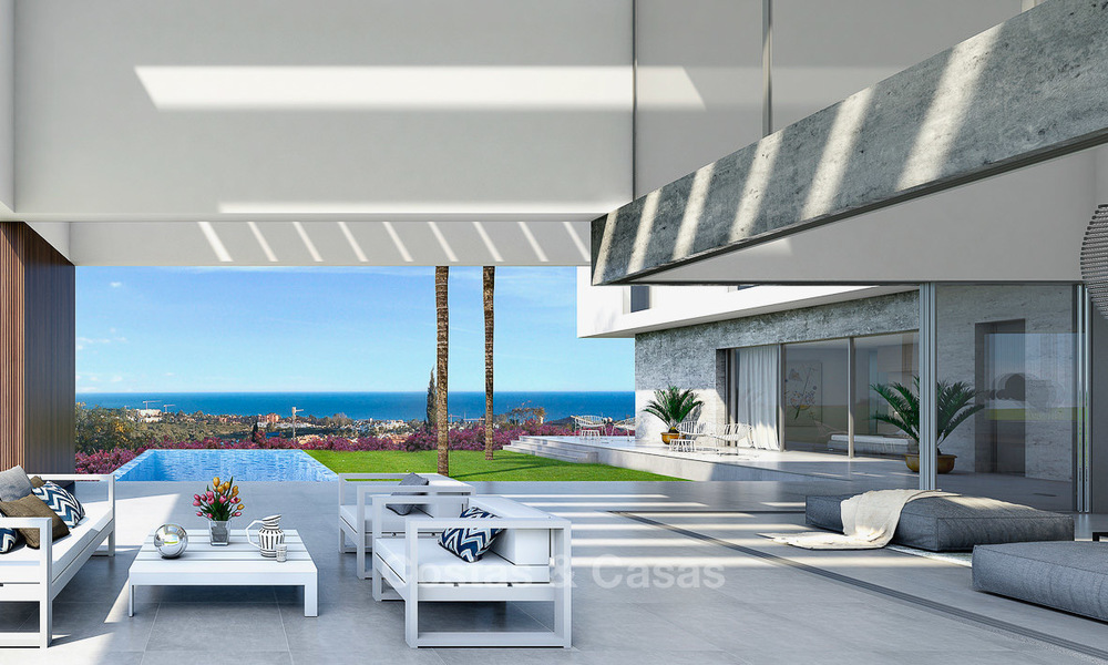 Brand new contemporary luxury villa with panoramic sea views for sale, in an exclusive golf resort, Benahavis - Marbella 10098